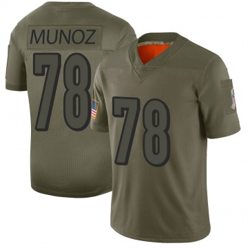 Men's Anthony Munoz Cincinnati Bengals Nike Limited 2019 Salute to Service Jersey - Camo