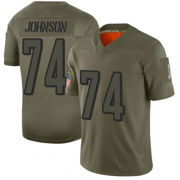 Youth Fred Johnson Cincinnati Bengals Limited 2019 Salute to Service Jersey - Camo